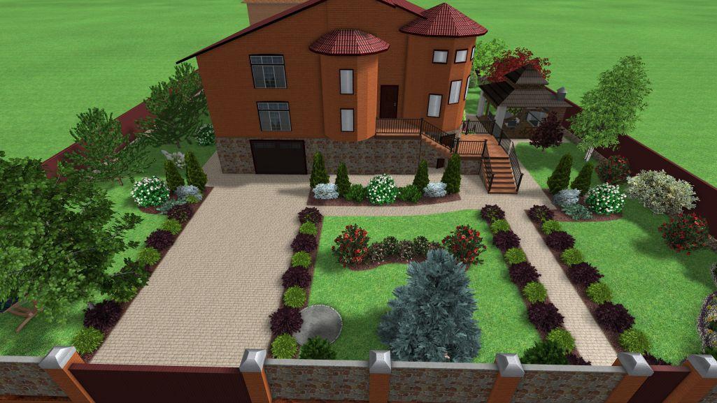 Ландшафтное оформление сада Сергея и Наталии