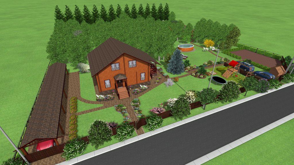 Проект участка в лесной зоне