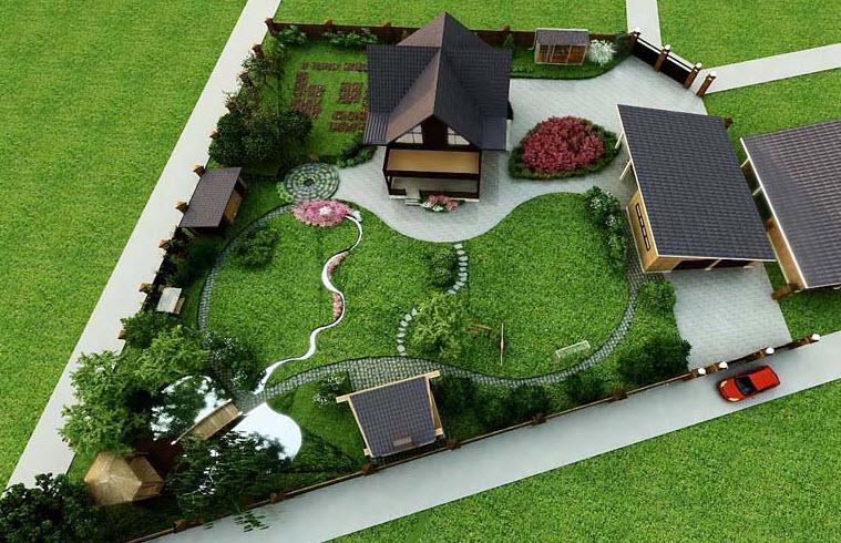Дизайн дачного участка